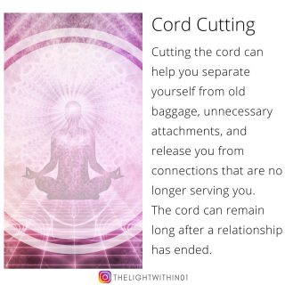 When 2 people are in a deep relationship, be it family, friends, or a lover, an energetic cord gets formed connecting the 2.  This energetic cord can remain long after a relationship has ended. This unbroken cord leaves an open channel between you and the other person, through which emotions and energy continue to flow.   If you are unaware that the cord exists, it is easy to feel the other person's emotions. In fact, there are times that they even sap you of energy!  Upon the ending of a relationship, you continue to feel a sense of sadness because of the cords attaching you.  When it is someone you care about, remember that you are not ending a relationship, but you are clearing the cords that no longer serve you both.  Cutting a cord can help you or a loved one to reach new stages of growth. By doing this you are setting yourself free from the ties that bind you.   𝐓𝐨 𝐁𝐎𝐎𝐊 𝐚 𝐂𝐨𝐫𝐝 𝐂𝐮𝐭𝐭𝐢𝐧𝐠 𝐬𝐞𝐬𝐬𝐢𝐨𝐧 𝐟𝐨𝐫 𝐲𝐨𝐮𝐫𝐬𝐞𝐥𝐟, 𝐜𝐥𝐢𝐜𝐤 𝐨𝐧 𝐭𝐡𝐞 𝐥𝐢𝐧𝐤 𝐢𝐧 𝐁𝐢𝐨 👇  COMMENT below if you can relate to this post! ❤️