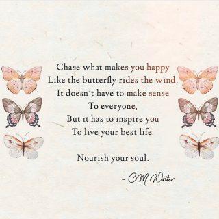 ❤️🦋  The words say it all ✨  (Photo credit: @cm.writer)  . . . . .  #wordsofwisdom #inspirationalquotes #healingwords #motivation #happiness #happinessquotes #livingyourbestlife