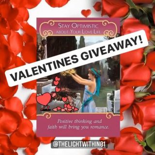 VALENTINES GIVEAWAY💕 ✨Win a FREE Reading with me!✨  All you have to do is the following:  ❣️Follow @thelightwithin01  ❣️TAG 3 friends on this post  ❣️Ask them to follow Step 1 ❣️Write in the comments what 'LOVE' means to you.  The winner will be announced on the 16th of FEB.   🚫Rules - This Reading covers 2 questions - Bonus Tags help! - Winners will be selected at random - Unfollowing after following will result in disqualification   Good Luck! Have a great weekend! 🤗