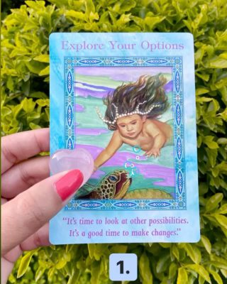 🌈 CARD 1: If you think a situation can't be changed, the answer is- it can. It may not be the way YOU had hoped for it to be, but the outcome will be for your happiness.  Don't get stuck on one thing- explore other options if you need to. When you explore new opportunities, the energy of the Universe begins flowing in the direction of your dreams.  ANY step you take, however small it maybe, will bring in new energy. Don't be afraid. . . 🌈CARD 2: Although it may feel as though you life is upside down, everything that is happening right now if for your best. The changes that are happening in your life are actually HELPING you leave behind what is not good for you. Stay centred and be ready for new blessings to enter your life, because they are right around the corner! You will have a chance to grow and be in new relationships. Have faith. . .  🌈CARD 3: Your intuition about a certain decision is correct and you can trust it completely. There is always a fear of making the wrong decision.  In that case, just drop your focus into your stomach (gut) and see if you feel good about this decision or is there a warning sign? Know that while you are reading this message, you ARE protected. Take action and have faith that it's the right step.  TAG a friend who would love this #tarotcardreading !   Drop your comments below if this resonates with you 🙌❤️  (Deck: Mermaids & Dolphins by Doreen Virtue)