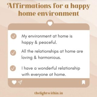 Affirmations for a harmonious home 🏠❤️ Take the one(s) that you love!   Click on the right to save this post so you can refer back to it.  We can't change other people who we live with, but what we can change is the vibration WE give out. These Affirmations will help with that.   Start saying them on a daily basis and see if you find any change in energy! I would love to know.   Wishing everyone a super and harmonious week! 🤗❤️  Comment with your favourite one below 👇 . . . . . . . . #thelightwithin #devina #affirmationsforwomen #affirmationsforagreatlife #affirmationsdaily #affirmationsoftheday #positiveaffirmations #affirmationquotes #affirmations #mondaymotivations #mondaymorningmotivation #mondaymotivation #happyhome #happyhomehappylife