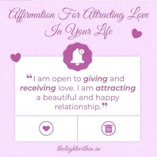 """Double Tap to Affirm with Me! 💖 Follow @thelightwithin01 for more such posts ✨  """"I am open to giving and receiving love. I am attracting a beautiful and happy relationship!""""  In order to attract love, we have to be in the state of allowing.  Repeating an Affirmation daily ensures that you're putting that energy in motion and attracting that very thing to you!  But always remember- if and only if it is for your highest good, it will come to you.  Surrender with faith and trust the process 💕  Comment below if you're ready to attract love in your life!  . . . . . . . . #thelightwithin #devina #lawofattraction #thelawofattraction #lawofattractioncoach #loveaffirmations #affirmationsdaily #affirmationsoftheday #affirmationpositive #attractinglove #manifestinglove #affirmationquotes #lovequotes #love #morningaffirmations #affirmationsforwomen #affirmations"""